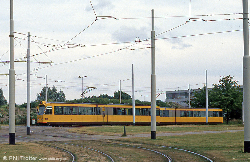 Car 822 at Burgemeester Oudlaan on 5th August 1990.