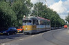Car 608 at Van Aerssenlaan on 28th August 1991. In 1968-69 35 Düwag articulated trams were acquired. These were fitted for one-man operation, had an extra door in the back section. Numbering was 601-635.