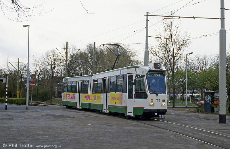 Reliveried car 712 at Charlois on 14th April 1994.