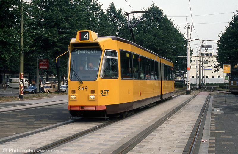 Car 849 at Kruisplein on 10th August 1990.