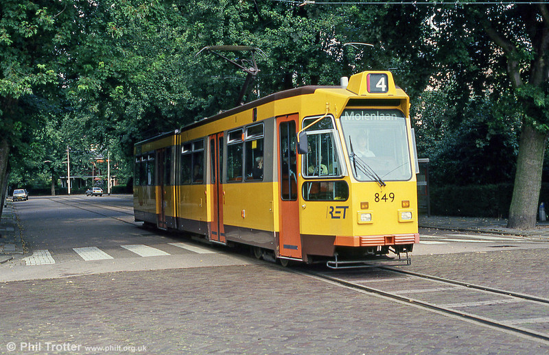 Car 849 at Molenlaan on 5th August 1990.