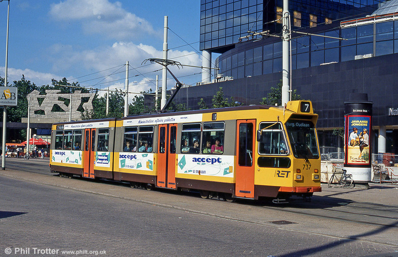 Car 737 at Centraal Station on 28th August 1991.
