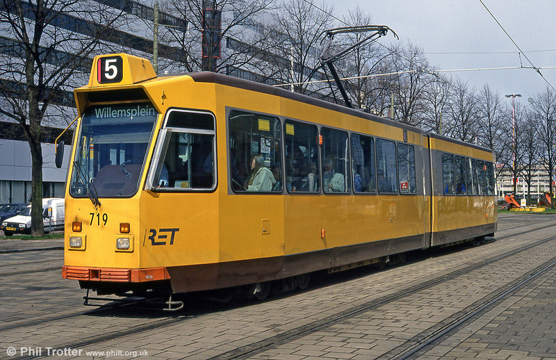 Car 719 at Kruisplein on 14th April 1994.