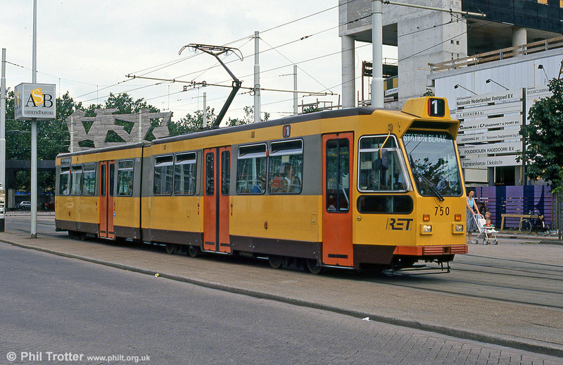 Car 750 at Centraal Station on 5th August 1990.