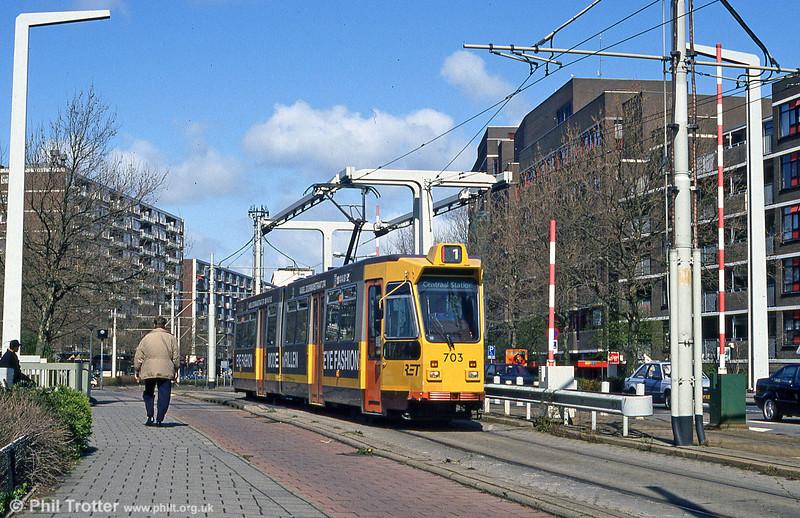 Car 703 at Schiedam on 14th April 1994.