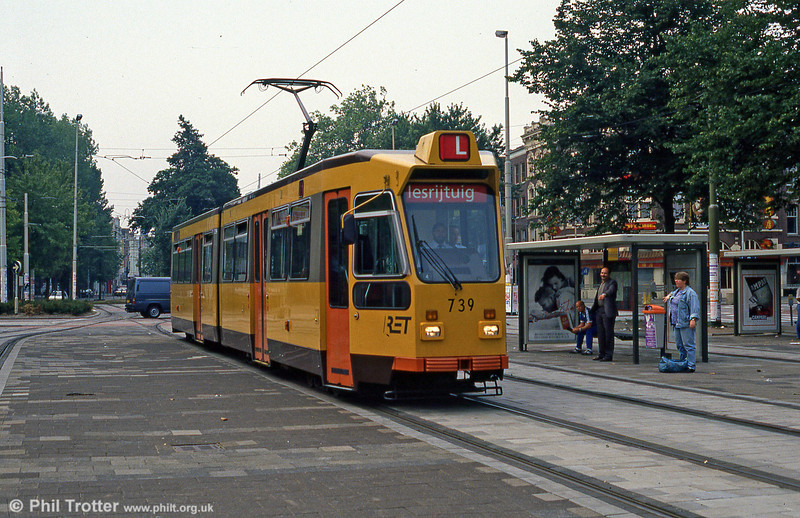 Car 739 at Kruisplein on 10th August 1990.