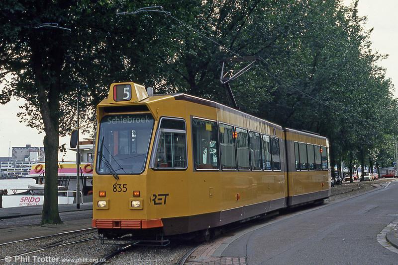 Car 835 at Willemsplein on 6th August 1990.