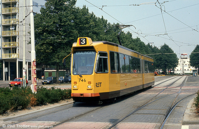Car 746 at Kruisplein on 10th August 1990.