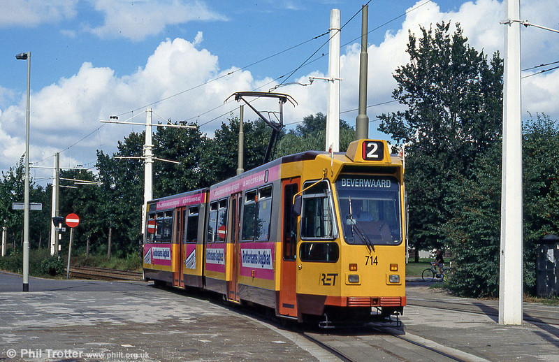 Car 714 at Charlois on 28th August 1991.