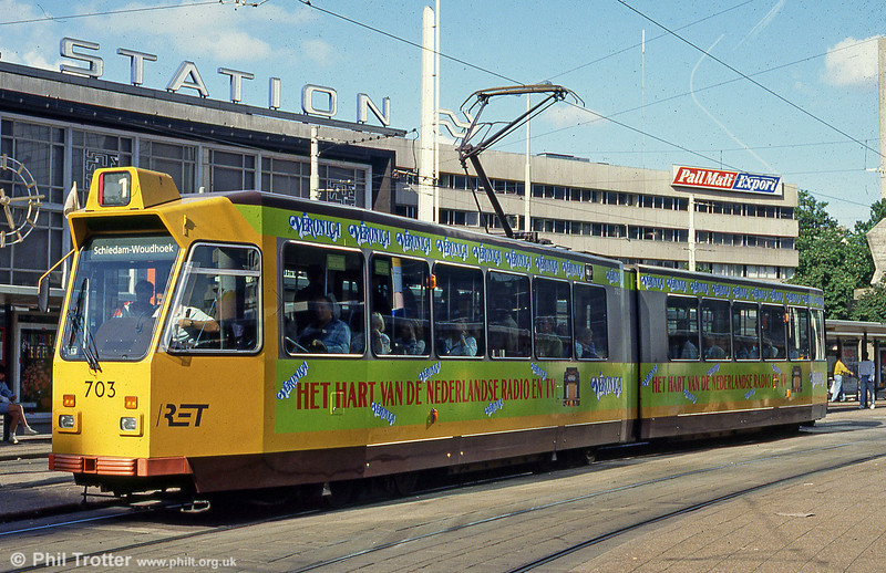 Car 703 at Centraal Station on 28th August 1991.