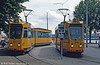 Cars 841 and 846 at Willemsplein on 6th August 1990.