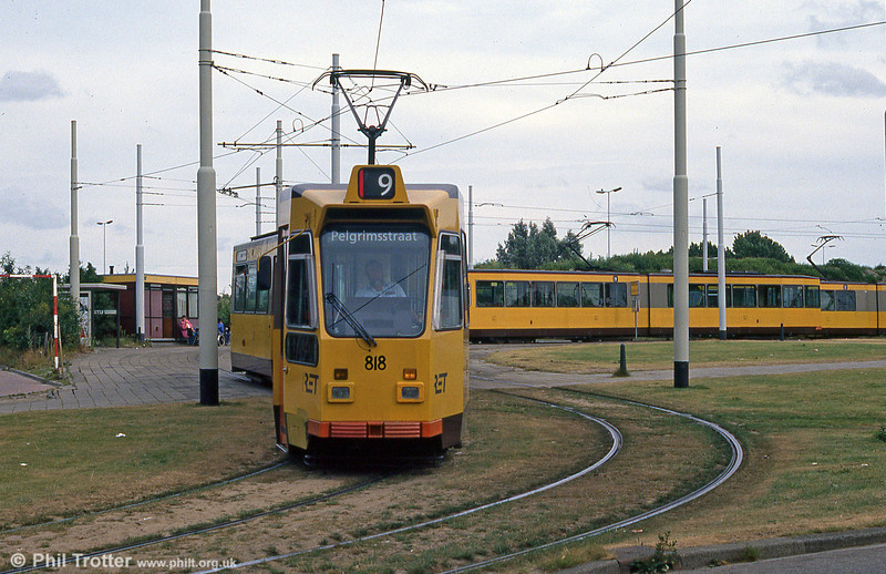 Car 818 at Burgemeester Oudlaan on 5th August 1990.