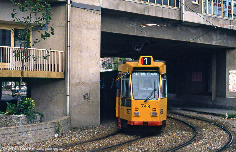 Car 748 at Blaak on 6th August 1990.