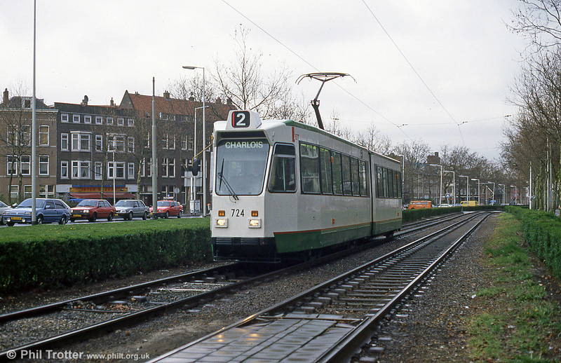 Car 724 at Maashaven on 14th April 1994.
