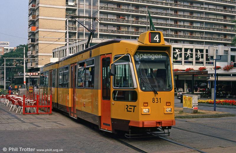 Car 831 at Van Oldenbarneveltstraat on 8th August 1990.