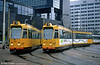 Cars 742 and 825 at Centraal Station on 14th April 1994.