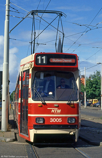 Car 3005 at Laan van Meerdervoort on 6th August 1990.