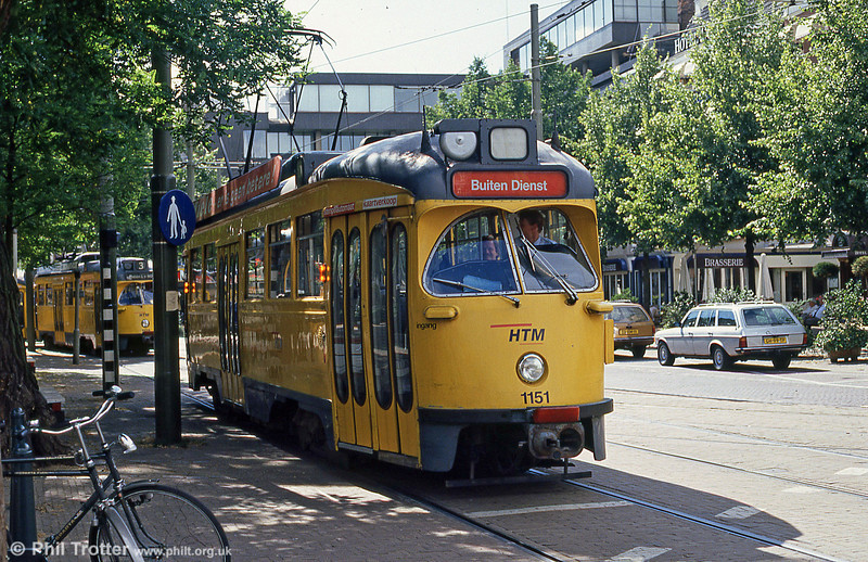 Car 1151 at Buitenhof on 6th August 1990.