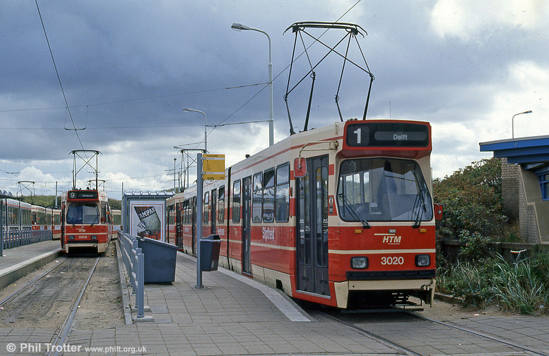 Car 3020 at Scheveningen on 6th April 1990.