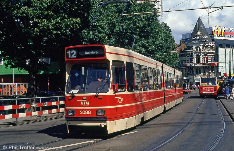 Car 3088 at Hof Weg on 6th August 1990.