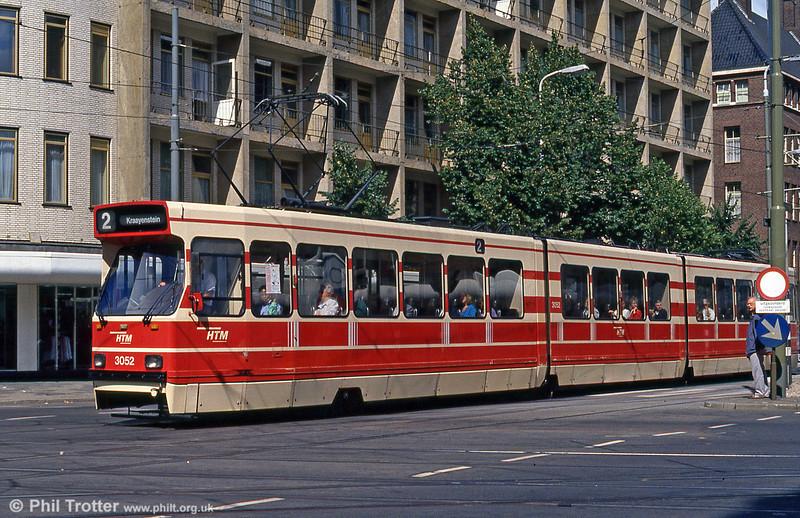 Car 3052 at Kalvermarkt on 6th August 1990.