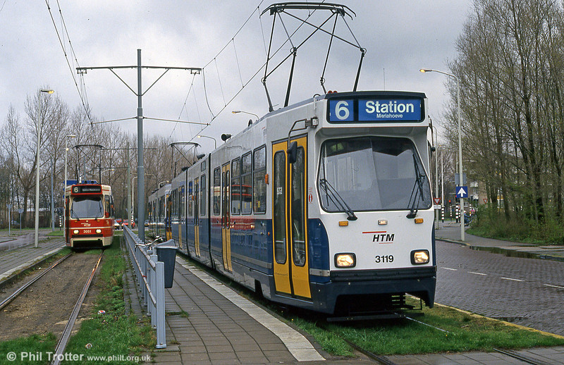Car 3119 at De Uithof on 15th April 1994.