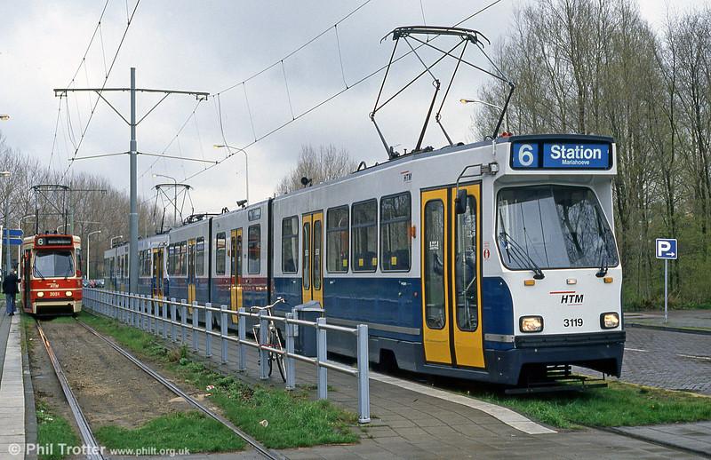 Car 3119 at De Uithof on 15th April 1994.