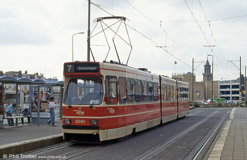 Car 3040 at Scheveningen on 28th August 1991.