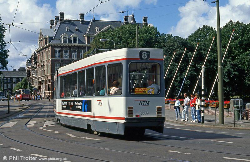 Car 3039 at Hof Weg on 6th August 1990.