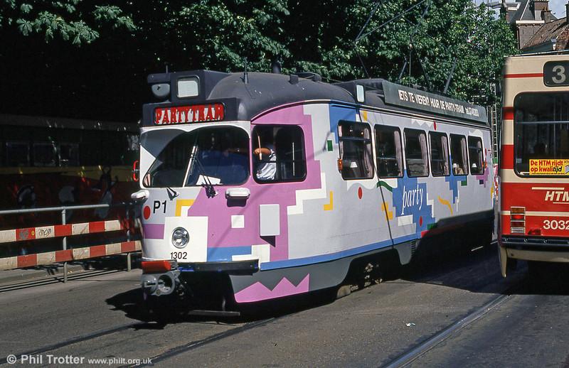 Car 1302 at Hof Weg on 6th August 1990.