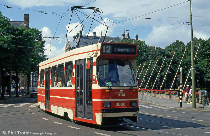 Car 3036 at Buitenhof on 6th August 1990.