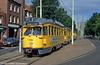 Den Haag PCC car 1128 at Loosduinen on 6th August 1990.