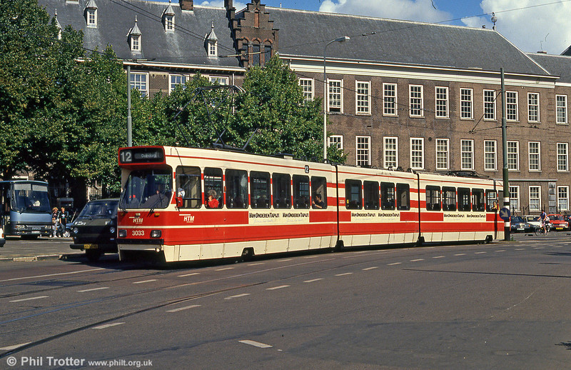 Car 3033 at Buitenhof on 6th August 1990.