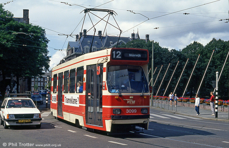 Car 3099 at Buitenhof on 6th August 1990.