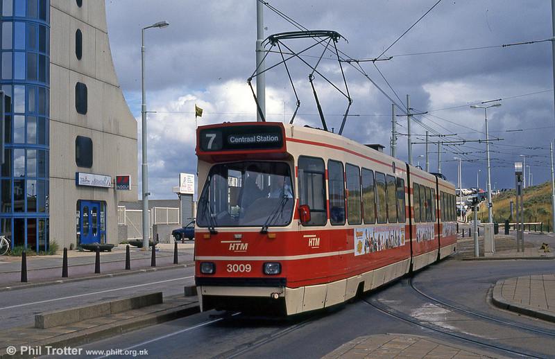 Car 3009 at Scheveningen on 6th April 1990.