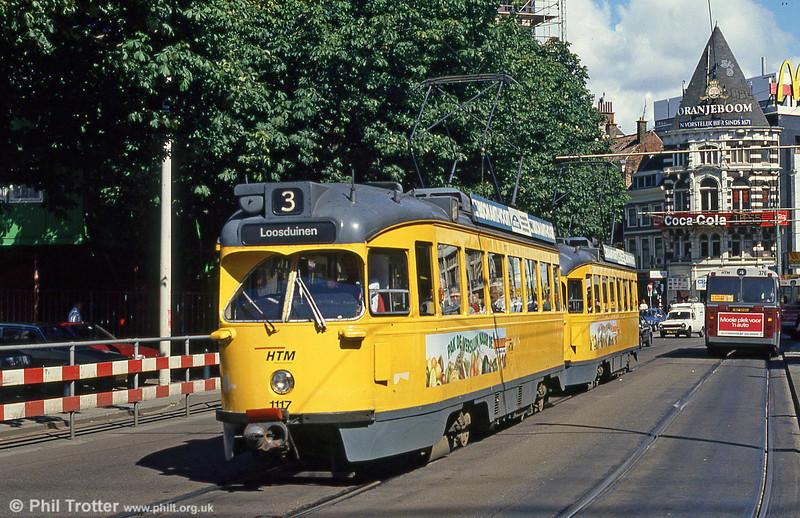 Car 1117 at Hof Weg on 6th August 1990.