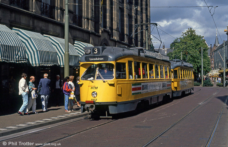 Car 1102 at Gravenstraat on 6th August 1990. A total of 264 PCC cars were once operated here.