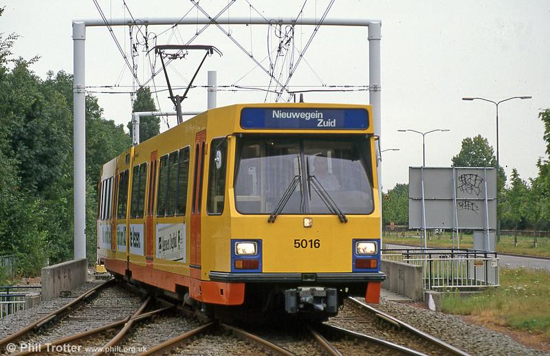 Utrecht 5016 at Niewegein Zuid on 8th August 1990.