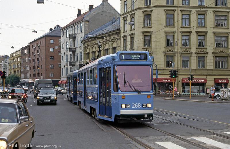 Car 268 at Majorstuen on 5th August 1991.
