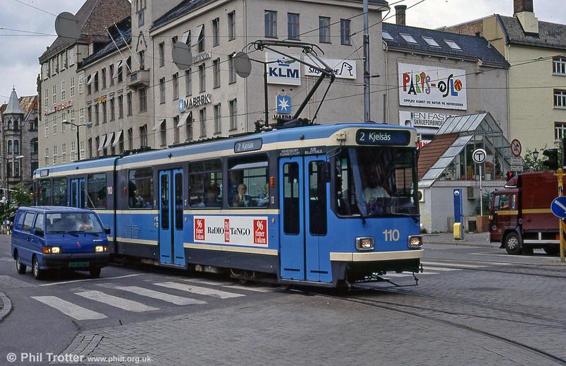 Oslo 110 at Jernbanetorget on 8h August 1991.