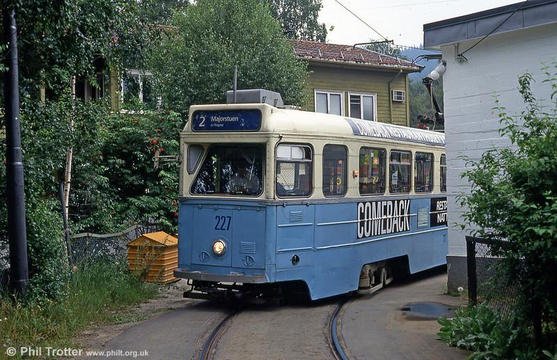 Car 227 at Kjelsås on 5th August 1991.