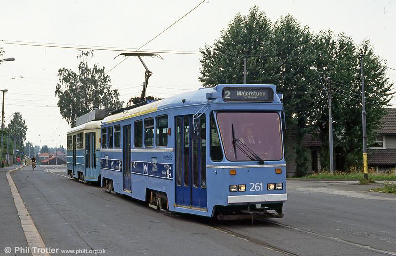 Oslo 261 at Kjelsas, 5th August 1991.