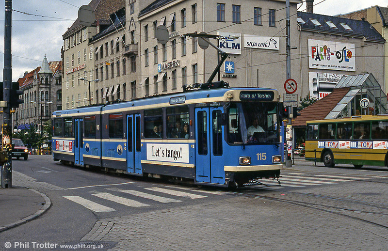Oslo 115 at Jernbanetorget on 8h August 1991.
