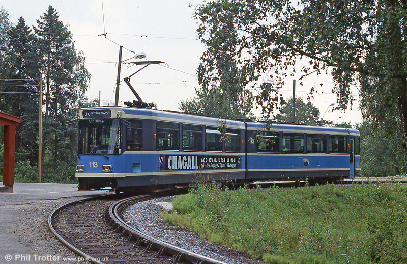 Car 113 at Ljabru on 5th August 1991.