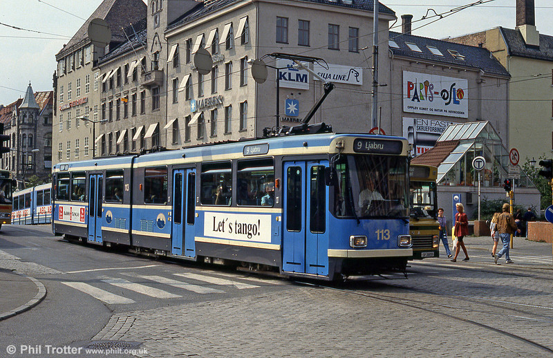 Oslo 113 at Fred Olsens Gate on 5th August 1991.