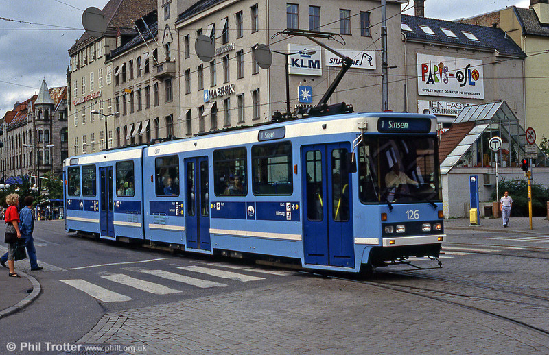 Oslo 126 at Jernbanetorget on 8h August 1991.