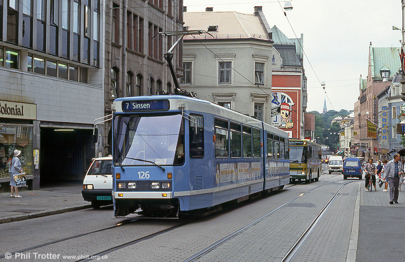 Car 126 at Grensen on 5th August 1991.