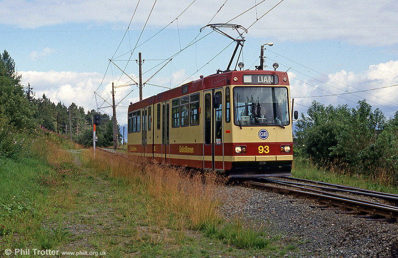 Car 93 at Hoem on 7th August 1991.