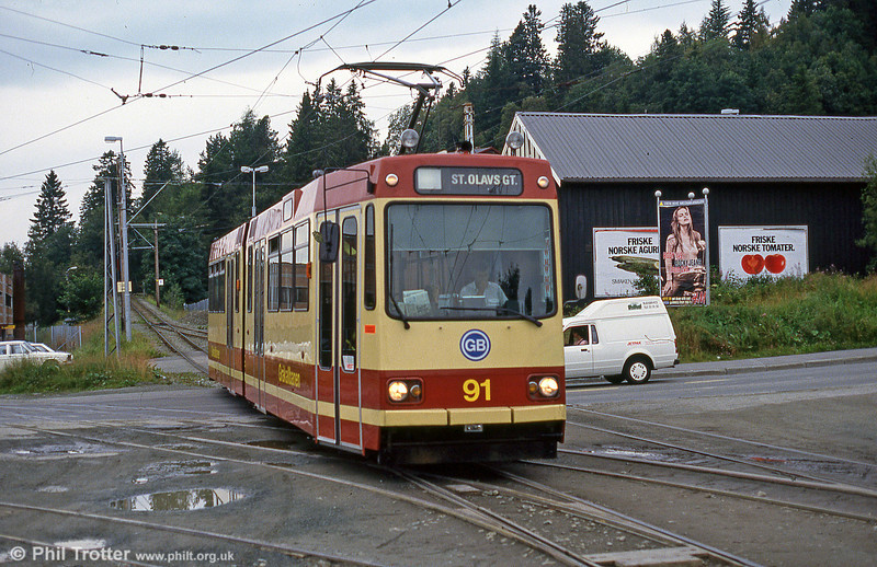 Car 91 at Munkvoll on 6th August 1991.