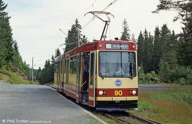 Car 90 at Lian on 7th August 1991.